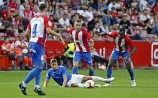 El Sporting 1-1 Reus, en imágenes