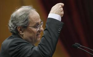 Torra ve «superada» la fase de Estatutos y pide a Sánchez la autodeterminación