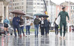 Desplome de las temperaturas en Asturias con Leslie
