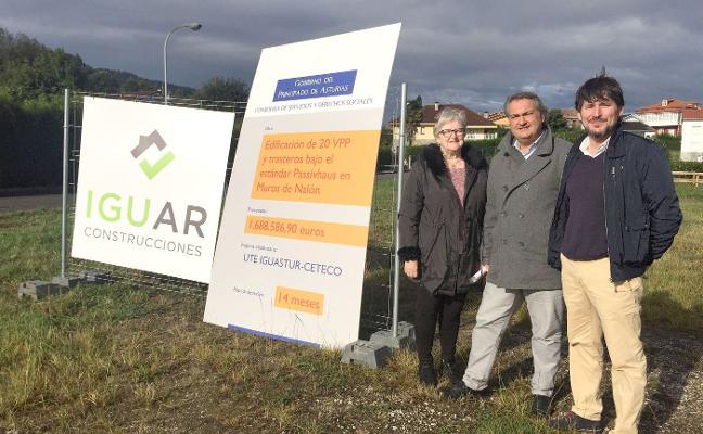 Muros inicia la construcción de un bloque de veinte viviendas protegidas eficientes
