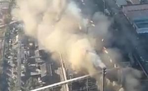 Vídeo: el fuego y los daños, vistos desde el aire
