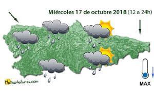 Las lluvias regresarán a Asturias este miércoles