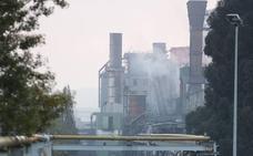 Las baterías de Arcelor en Avilés, un día después