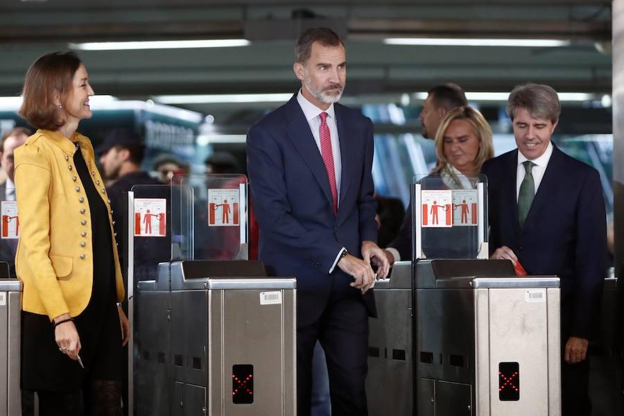 El Metro de Madrid celebra sus 100 años con el Rey a bordo