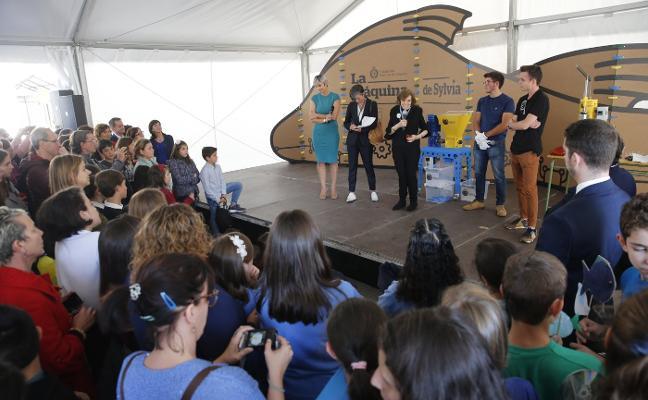 «Sin azul no hay verde», defiende en el IES Doña Jimena