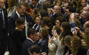 Los Reyes, ovacionados en Oviedo