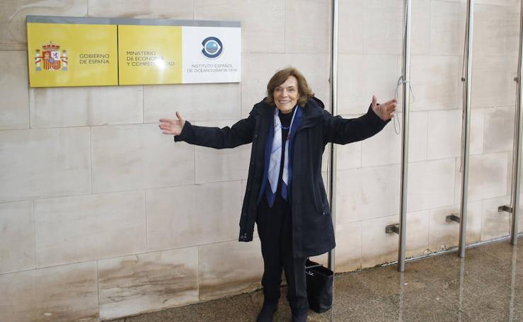 Sylvia Earle visita el Instituto Oceanográfico de Gijón