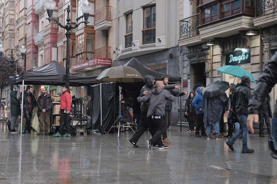 La gijonesa calle Corrida se convierte en plató de cine