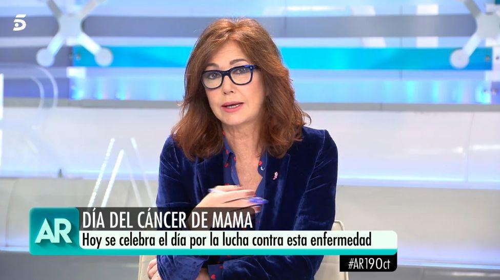 Ana Rosa confiesa que tuvo cáncer de mama hace ocho años