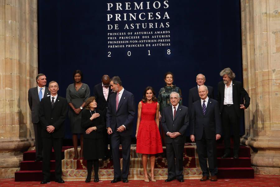 Las audiencias reales abren el día de la entrega de los Premios Princesa de Asturias
