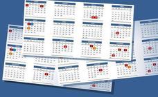 El calendario laboral de 2019 tendrá 8 festivos con dos puentes nacionales
