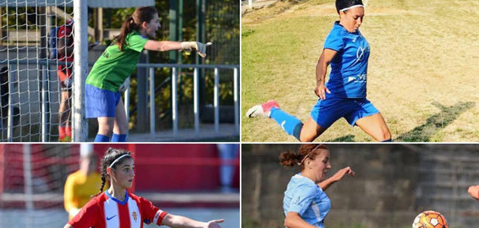 Las líderes del fútbol femenino en Asturias