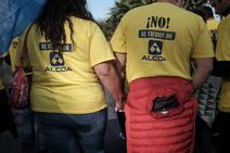 Los trabajadores de Alcoa en Avilés dan fuerza a sus compañeros de La Coruña