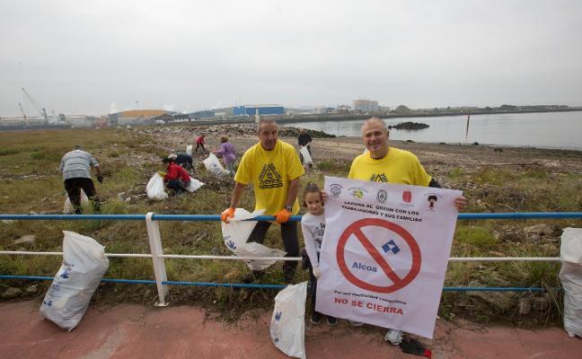Limpieza solidaria de la playa