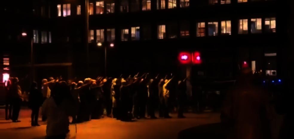Pólemica en las redes sociales por un vídeo en el que se canta el 'Cara al Sol' en Oviedo
