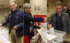 Los tres candidatos socialistas ya han votado en las primarias de Gijón