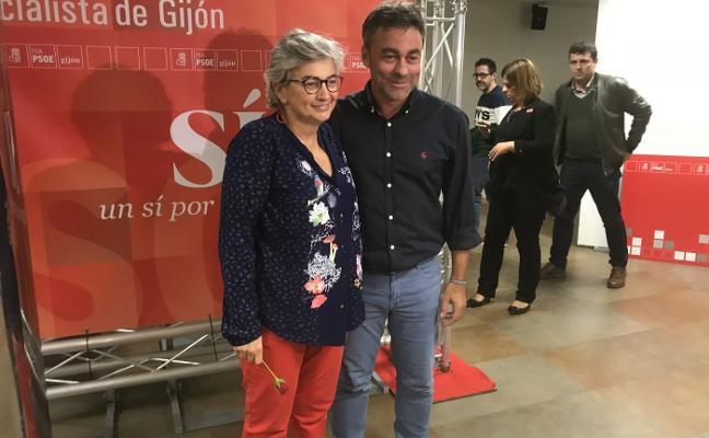 Ana González y Ramón Tuero pugnarán en segunda vuelta por liderar la lista del PSOE en Gijón