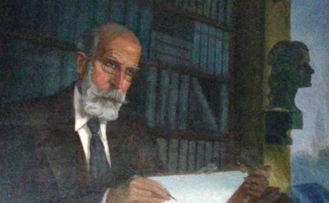 Donan al Museo del Pueblo de Asturias un retrato de Ramón Menéndez-Pidal
