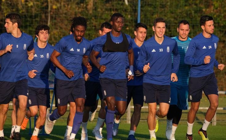 Entrenamiento del Real Oviedo (23-10-2018)