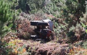 Muere al caer con su tractor por un desnivel de 150 metros en Bimenes