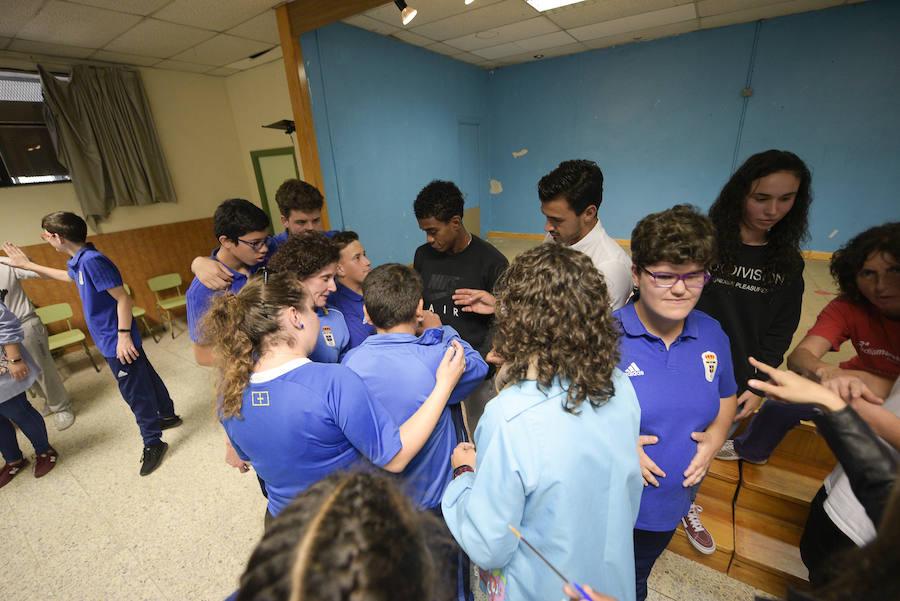 El colegio Latores recibe la visita del Real Oviedo