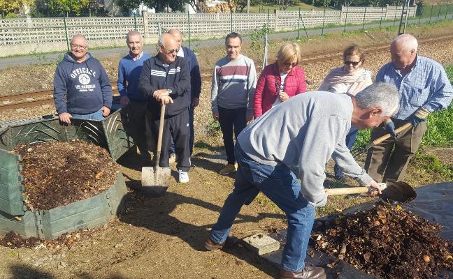 Ochocientos kilos de compost fruto de la cooperación vecinal