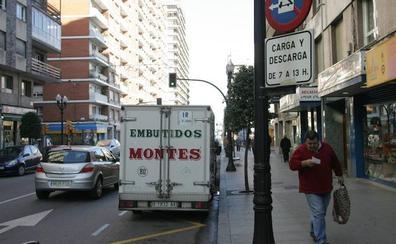 El horario de carga y descarga en Gijón irá hasta las cinco de la tarde de forma ininterrumpida