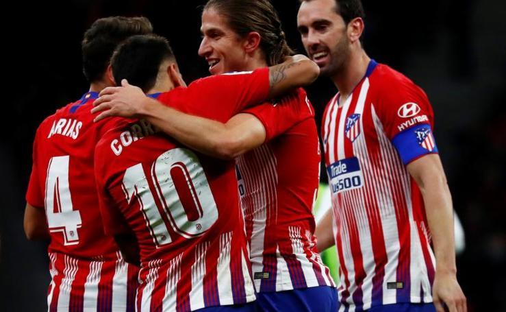 Las mejores imágenes del Atlético - Real Sociedad
