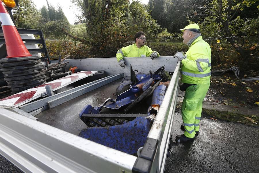 El accidente de un camión en la Y provoca retenciones durante más de tres horas