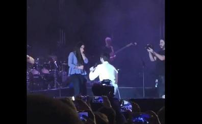 Vídeo: le pide matrimonio a su pareja en un concierto de Melendi