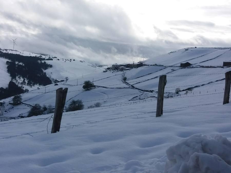 El occidente asturiano, la zona más afectada por el temporal