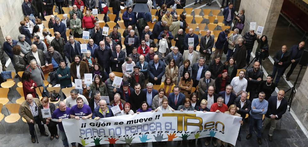 Clamor unánime en Gijón: «Basta de retrasos con el plan de vías»