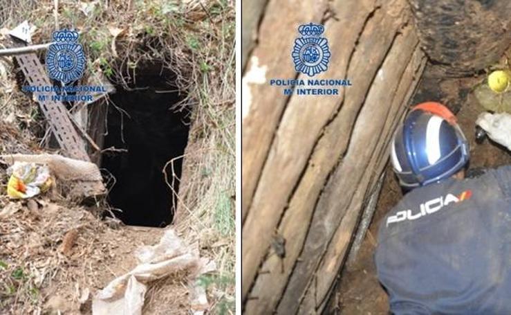 Así era el zulo que un grupo criminal tenía en el Naranco, Oviedo
