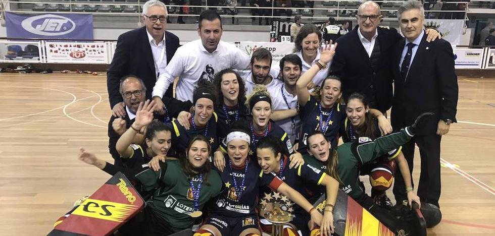 España, con las asturianas Natasha Lee, Sara González y Marta Piquero, campeonas de Europa