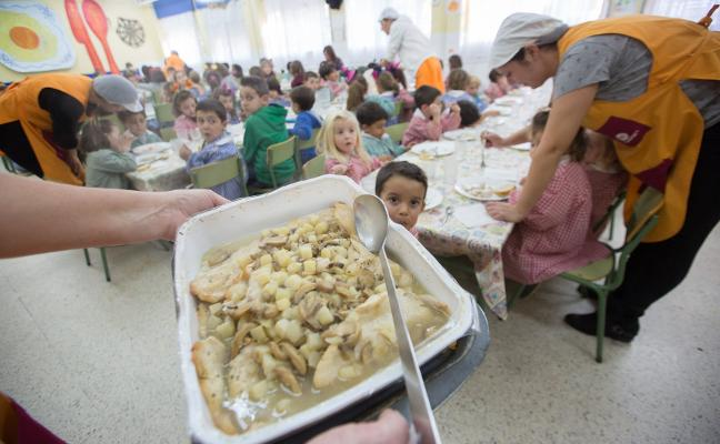 Cerca de 2.000 alumnos utilizan los comedores escolares y el servicio de atención temprana