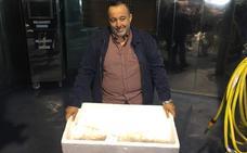 La primera angula alcanza los 4.970 euros en Ribadesella