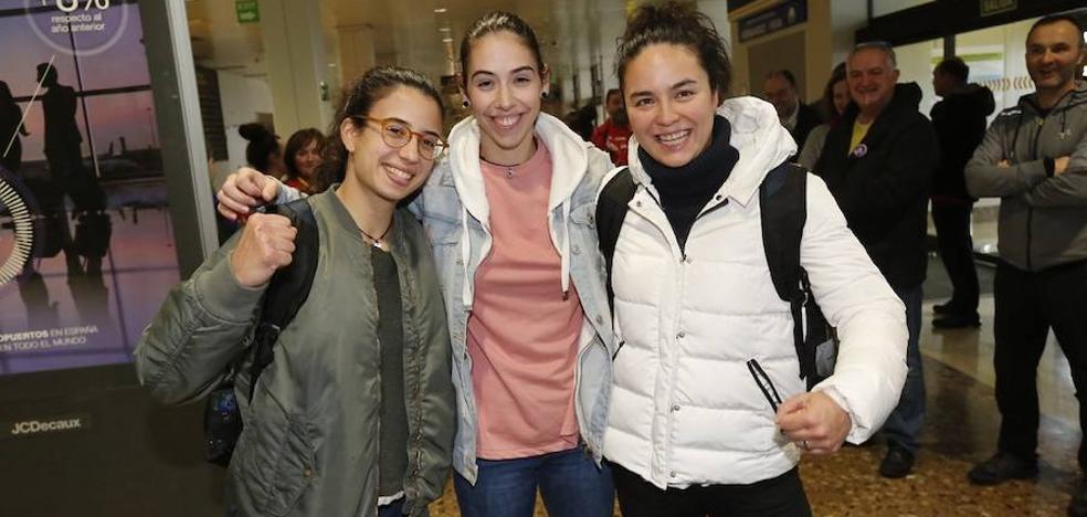 Las campeonas de hockey sobre patines de Europa ya están en Asturias