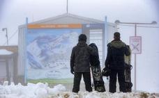 La estación de Pajares cancela su apertura ante la bajada del espesor de la nieve