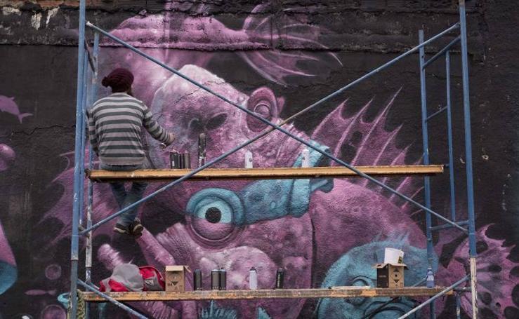 El Festival Nacional de Graffiti pinta Gijón