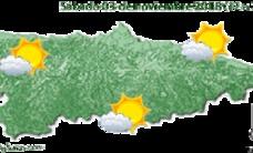 Intervalos nubosos con temperaturas mínimas en descenso