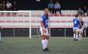 Lucía García vuelve a pisar el césped tras su lesión
