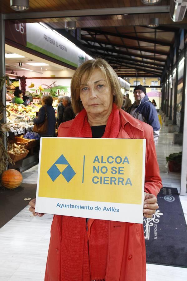 Avilés se moviliza contra el cierre de Alcoa