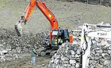 La reparación del argayo de La Cortina concluirá en una semana