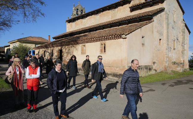 La Federación Europea del Camino, en la iglesia de Priesca