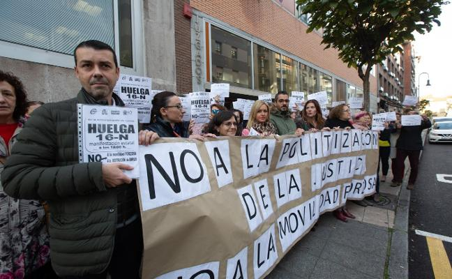 Los trabajadores de los juzgados protestan contra la reforma de la Ley del Poder Judicial