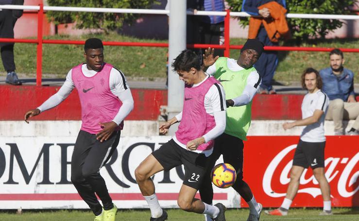 Entrenamiento del Sporting (14-11-2018)