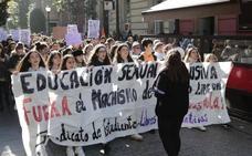 Los estudiantes exigen sacar el machismo de las aulas