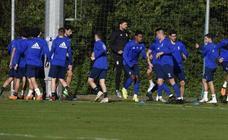 Entrenamiento del Real Oviedo (14-11-2018)
