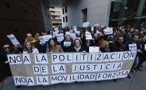 «No a la politización de la Justicia, no a la movilidad forzosa»