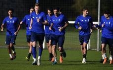 El Real Oviedo completará esta mañana su segunda sesión a puerta cerrada